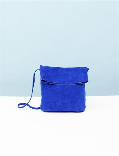 Creatures of Comfort X Baggu Fold-Over Leather Purse - Blue