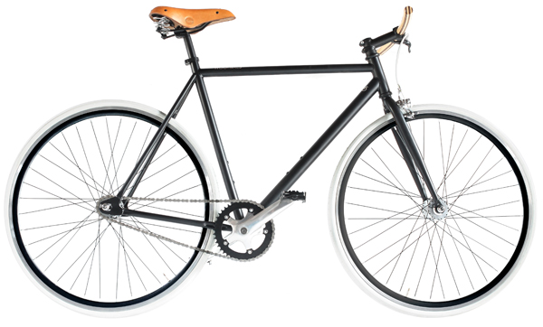 woot bikes - fixies with a wooden handlebar