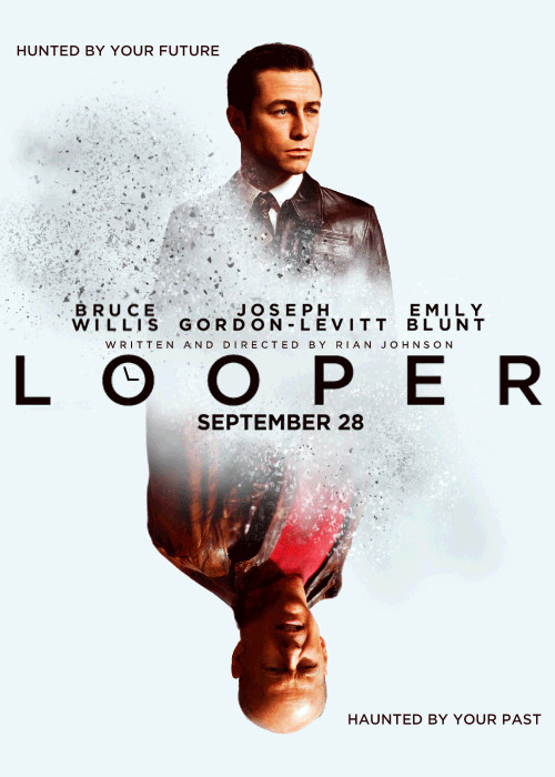 Looper movie poster GIF: will more movie posters advance in technology?