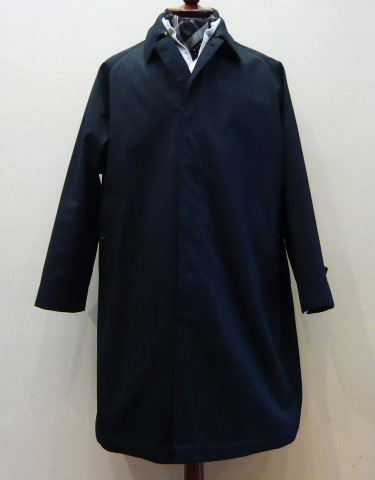 SINGLE RAGLAN COAT - Gabardine / Navy - kink online shop