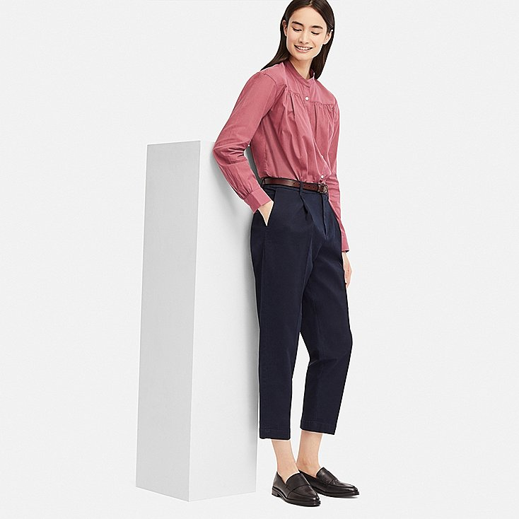 WOMEN COTTON TAPERED ANKLE-LENGTH PANTS | UNIQLO US