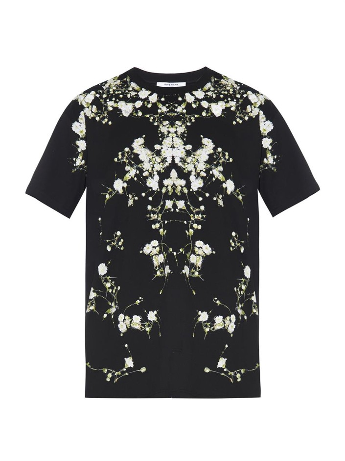 Columbian-fit floral-print T-shirt   Givenchy   MATCHESFASHION...
