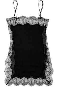 【LASO】Agent Provocateur  Ingrid lace and silk-blend chemise エージェント・プロヴォケイター