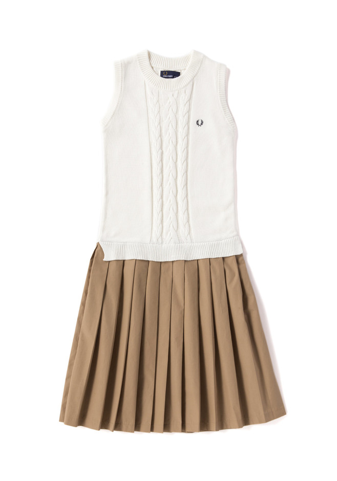Cable Knitted Pleat Dress   FRED PERRY JAPAN   フレッドペリー日本公式サイト