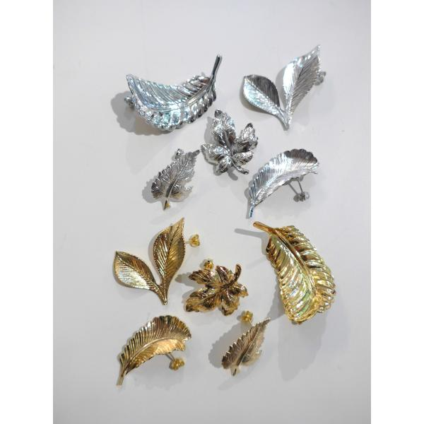 THEATREPRODUCTS  TA131070 ブレスリーフピアスセット COL. GOLD/SILVER ¥14.000+TAX - nep Onlinestore