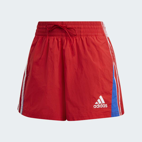 adidas Colorblocked 3-Stripes Shorts - Red | adidas UK