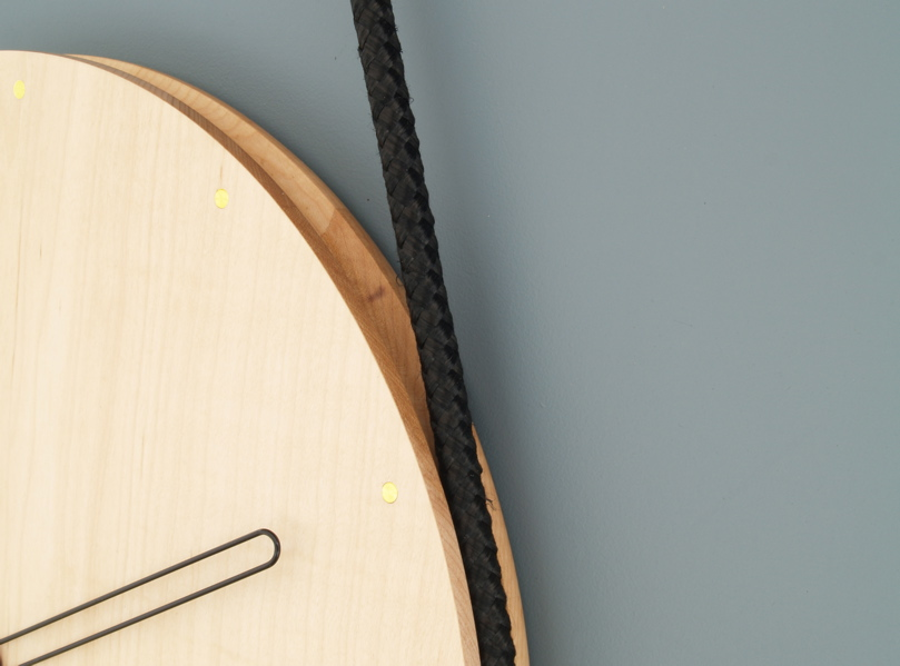 Hanging Clock - maple : Lukas Peet Design