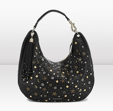 Jimmy Choo | Solar L | Calf Leather with Zodiac and Star Stud Handbag | JIMMYCHOO.COM