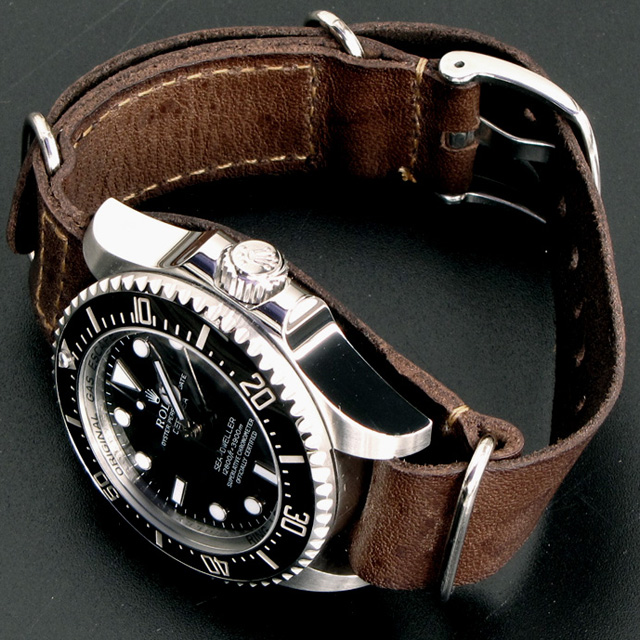 Fancy - Rolex Sea-Dweller Deepsea x Leather Nato Gunny Straps