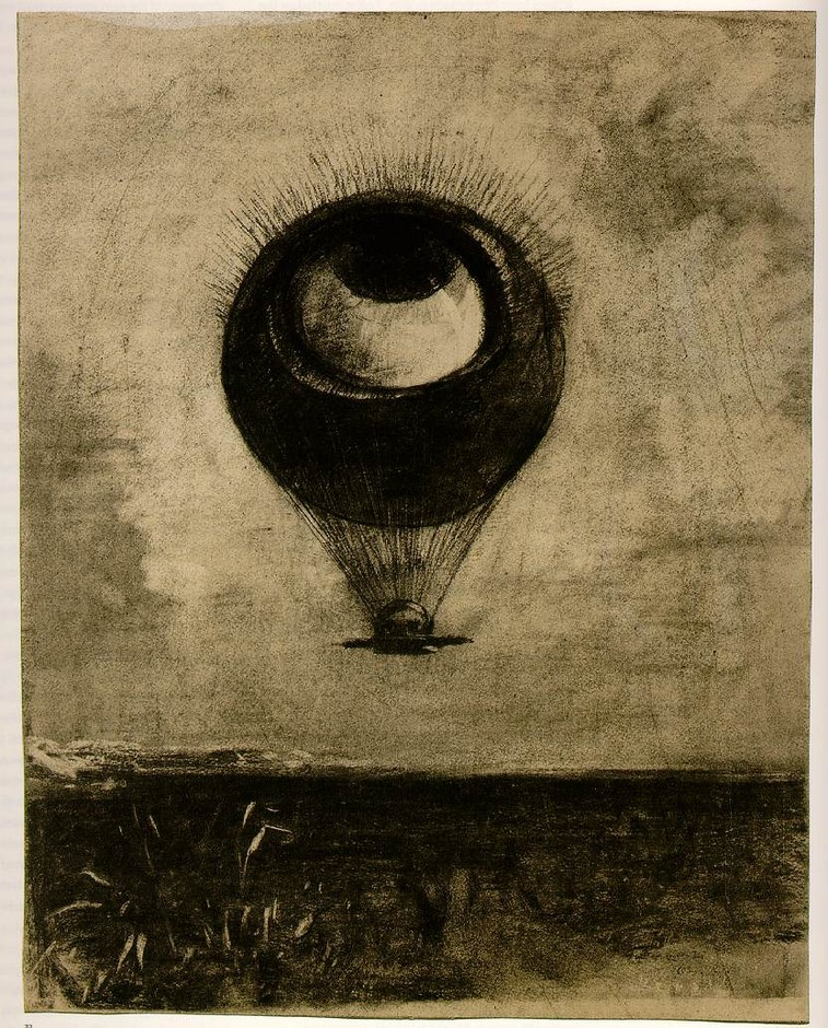 Eye Balloon - Odilon Redon - WikiPaintings.org