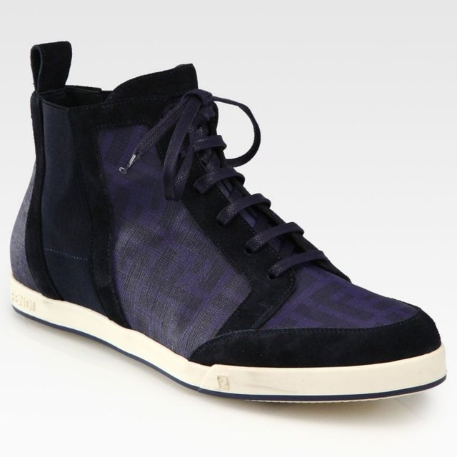 Fancy - Canvas Lace-Up Sneakers by Fendi