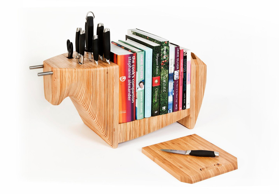 KITCHEN BULL by toro legno combination knife block / by torolegno
