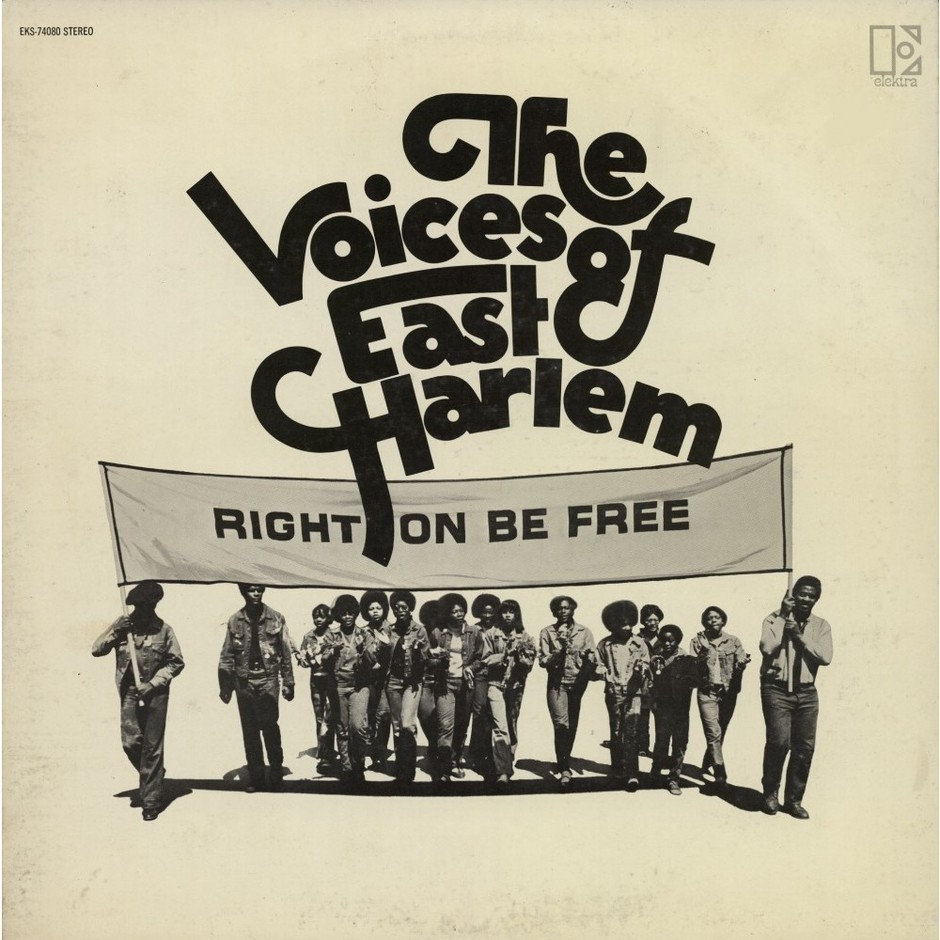 THE VOICES OF EAST HARLEM right on be free中古レコードLP買取中CDandLP.com