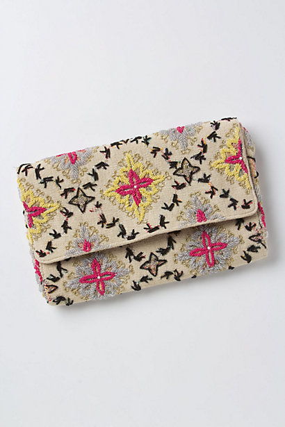 Tetrapoint Embroidered Clutch - Anthropologie.com