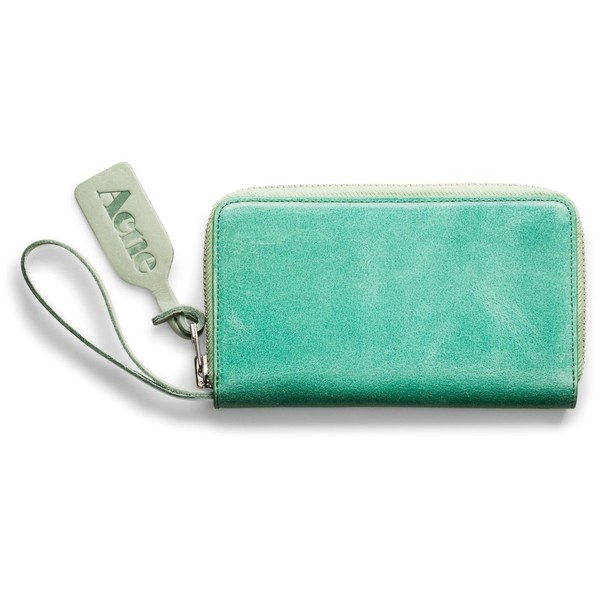 ACNE Agate Waxed Sea Green - Polyvore