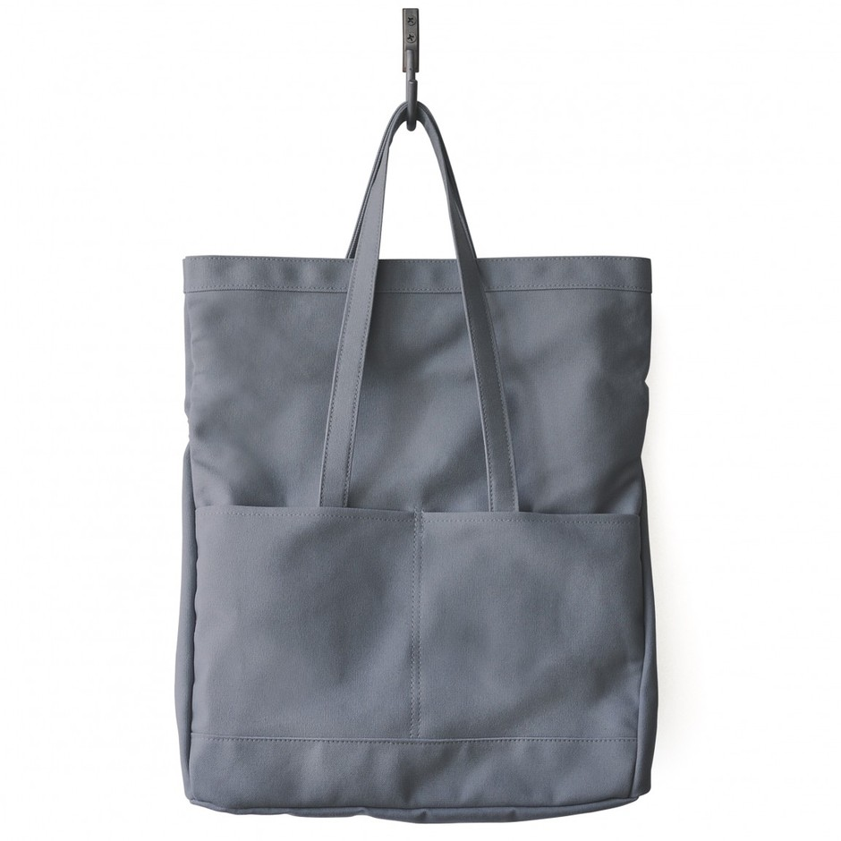 Fold Weekender in Gray Canvas – Made in USA