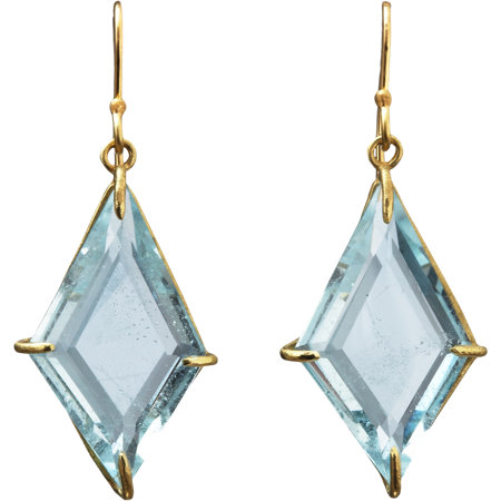 Rosanne Pugliese Blue Topaz Geometric Drop Earrings at Barneys.com