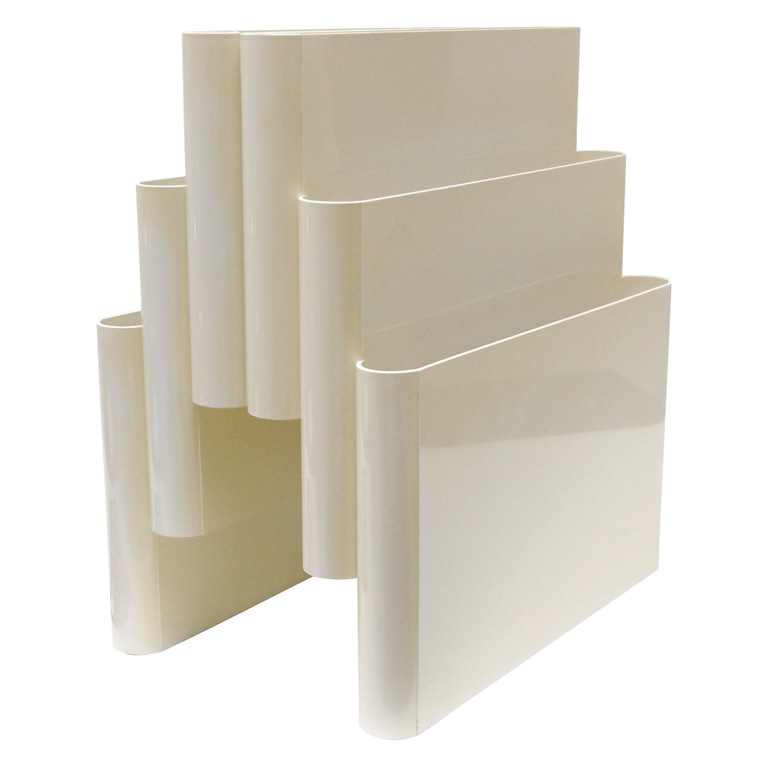 Model 4675 Portariviste in Cream Acrylic by Giotto Stoppino for Kartell at 1stdibs