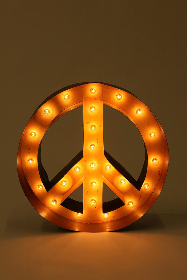 Urban Outfitters - Peace Sign Marquee Light