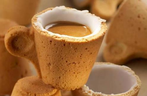 Maya-Honey Lampwork: Oh so sweet - cookie cup for coffee!