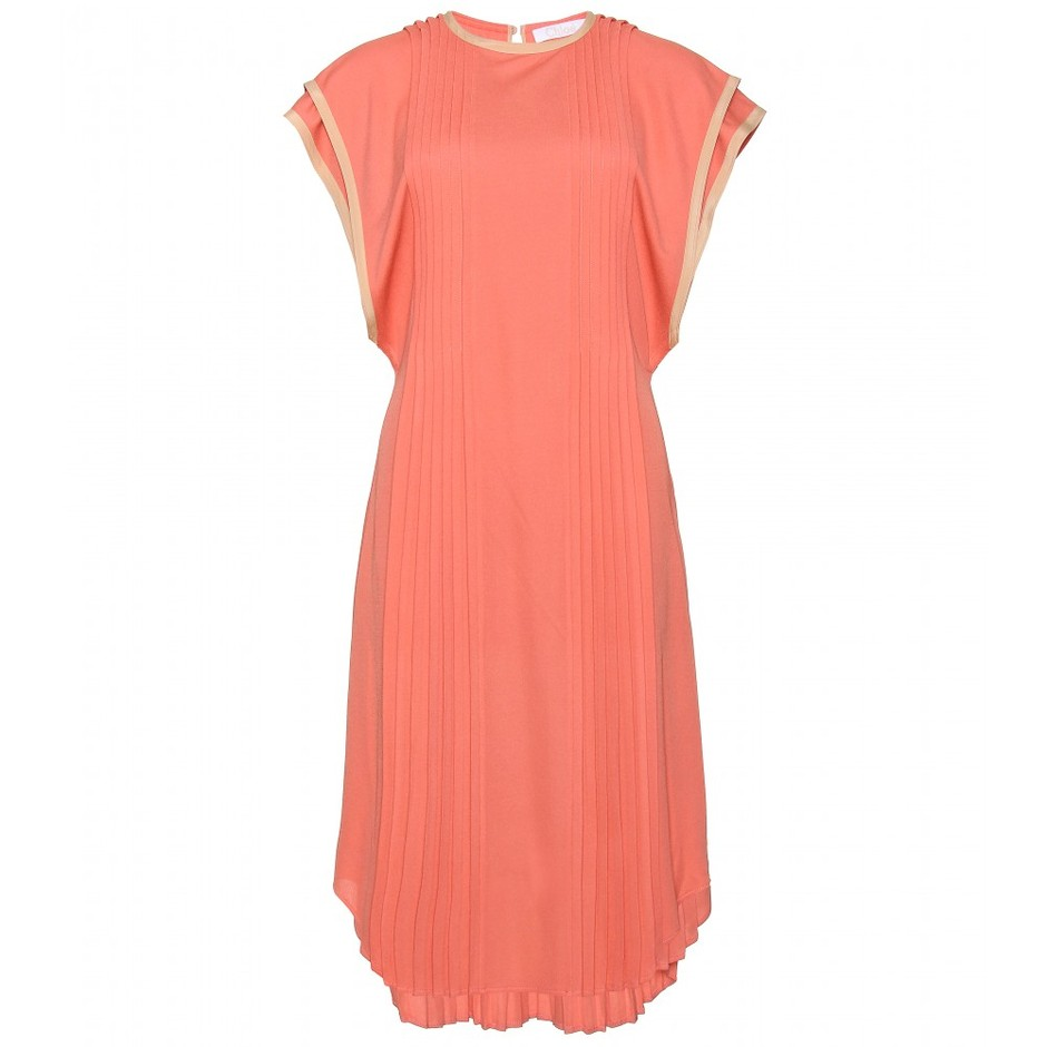 mytheresa.com - Chloé - PIN-TUCKED PLEATED DRESSS - Luxury Fashion for Women / Designer clothing, shoes, bags