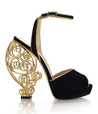 Let's Get Some Shoes / Charlotte Olympia Wire Heel Platform Sandals