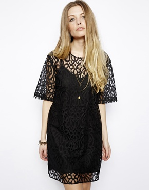 ASOS | ASOS Reclaimed Vintage Lace T-Shirt Dress at ASOS