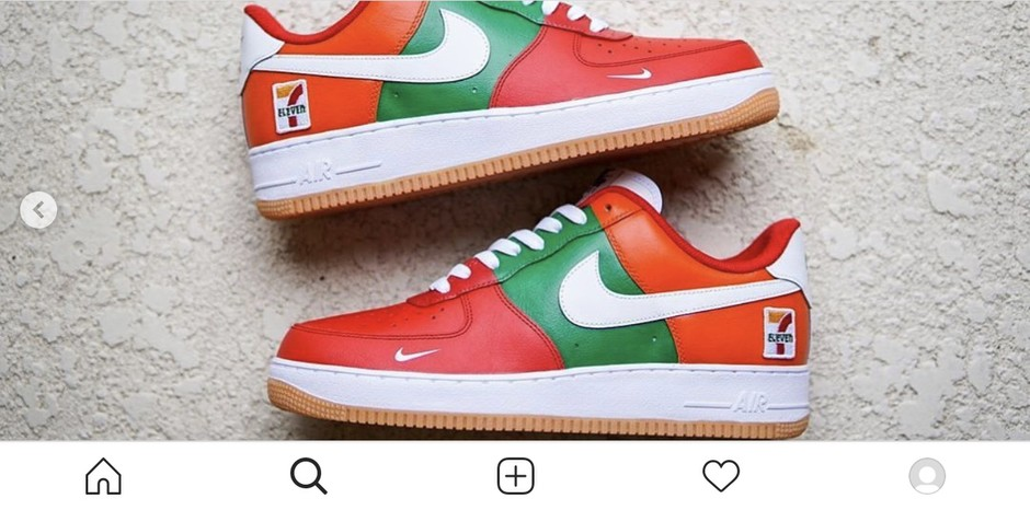 @sneakprints - Instagram:「Few more angles of these 7-11 Air Force 1's based on the Nike Dunk's that were teased and then cancelled.」