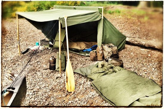The Campfire Tent on a rocky beach on Loch Ness - secured ... | Outdo…