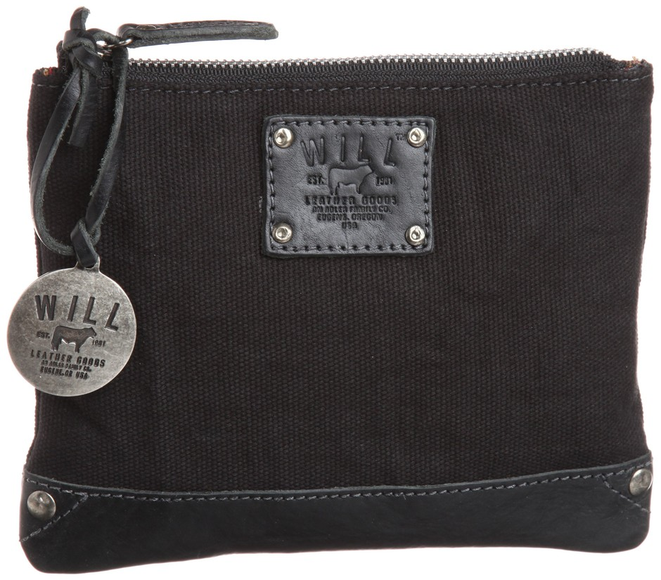 Amazon.co.jp: [ウィルレザーグッズ] WILL LEATHER GOODS CANVAS AND LEATHER POUCH: シューズ&バッグ