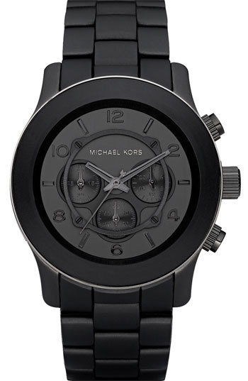 Black / Michael Kors Polyurethane Watch | Nordstrom