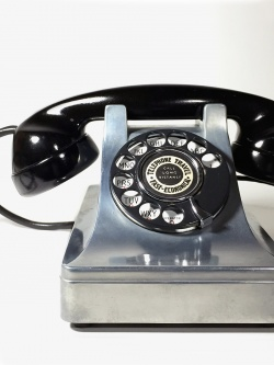 """1930-40's """"Western Electric"""" Art-Deco Telephone 【BLACK × SILVER】 - FUNNY SUPPLY"""