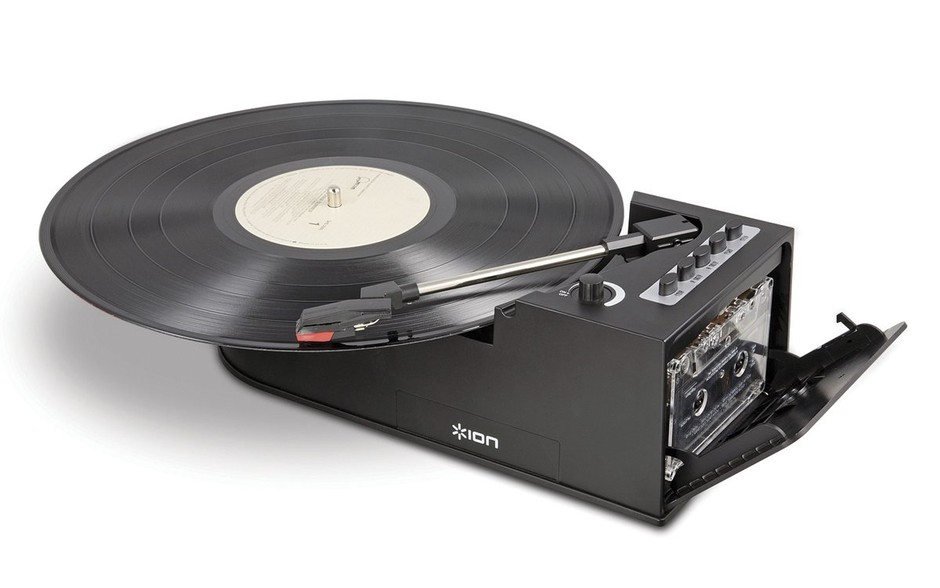 Amazon.com: Ion IT34 Duo Deck Ultra-Portable USB Turntable with Cassette Deck: Electronics