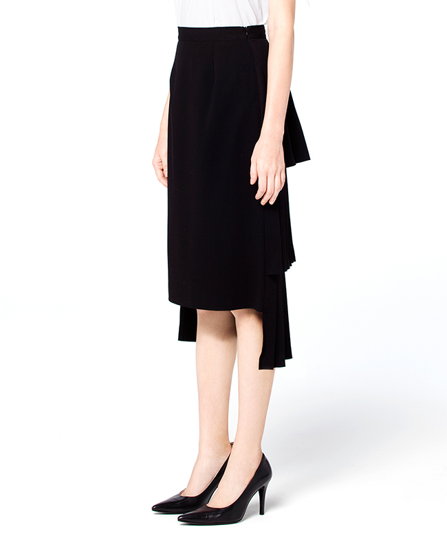DOUBLE FACE PLEATS SKIRT|CLANE|CLANE OFFICIAL ONLINE STORE