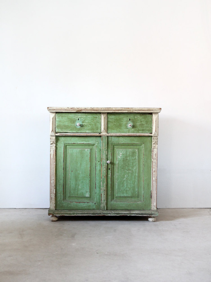 Antique Farm Cabinet / European Painted Cabinet by 86home on Etsy
