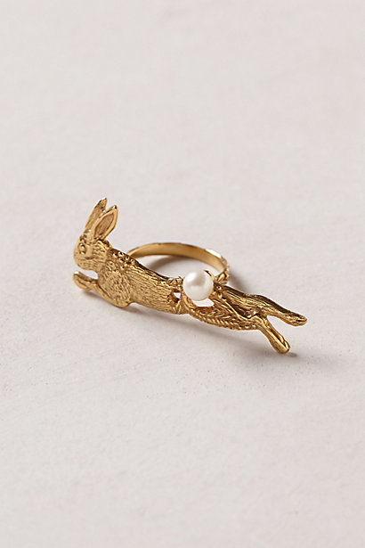 Lapin Two-Finger Ring - anthropologie.com