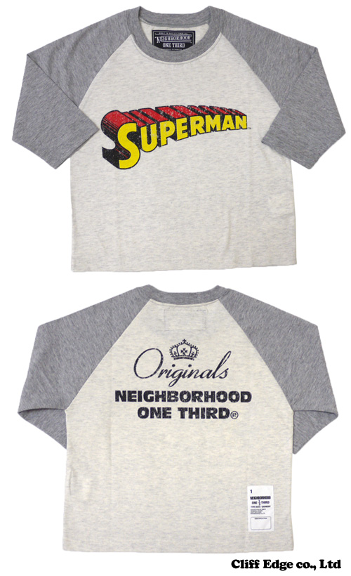 【楽天市場】NEIGHBORHOOD ONE THIRD DC COMICS SUPERMAN 七分袖 Tシャツ GRAY 201-000207-102-【新品】【smtb-TD】【yokohama】:Cliff Edge