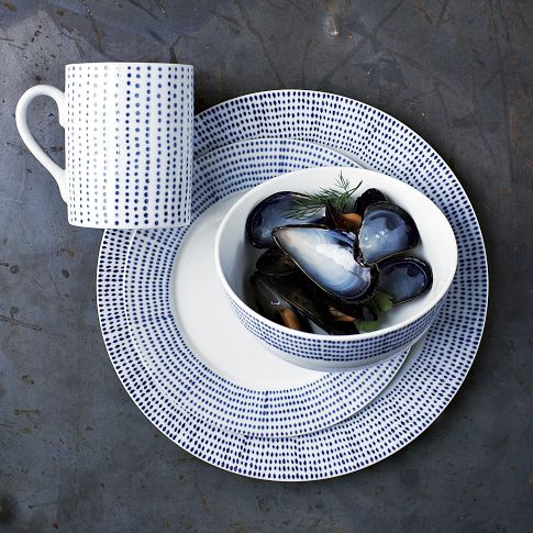 Hand-Painted Dotted Dinnerware Set | west elm