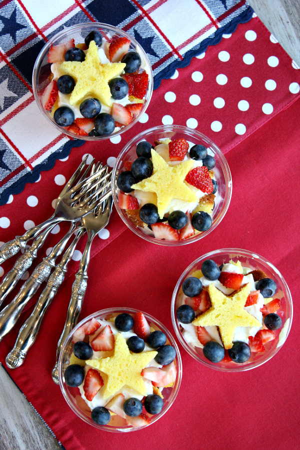 4th of July Fresh Berry Trifles | Recipe Girl