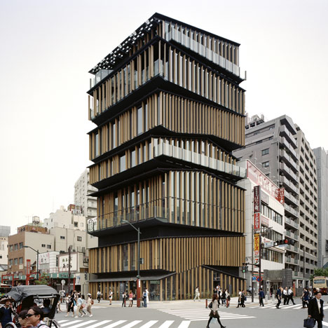 Dezeen » Blog Archive » Asakusa Culture Tourist Information Center by Kengo Kuma & Associates
