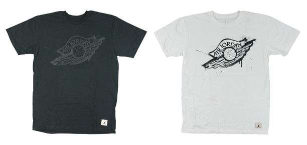 White Jordans Shirt With Wings Design