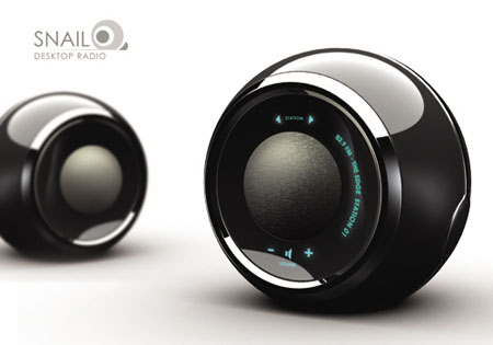 Snail Personal Desktop Radio by John Lee | Modern Industrial Design and Future Technology - Tuvie