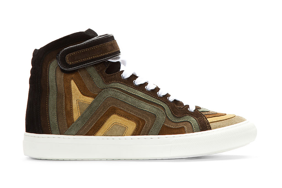 Pierre Hardy 2013 Spring/Summer Khaki Rainbow Banded Suede High-Top | Hypebeast