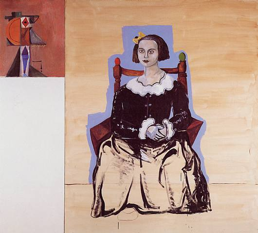 Seated Figure with Abstraction