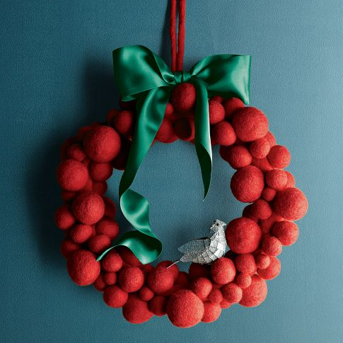 Felt Ball Wreath | west elm