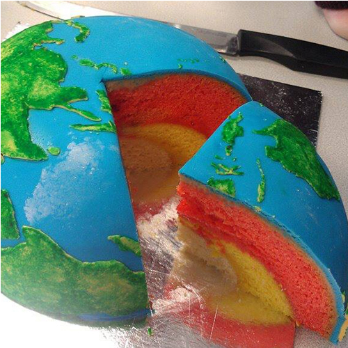 Commission: Earth Structural Layer Cake | Cakecrumbs