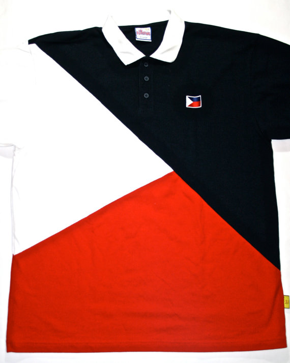 Vintage Philippines Flag Polo Shirt Pinoy by VintageMensGoods