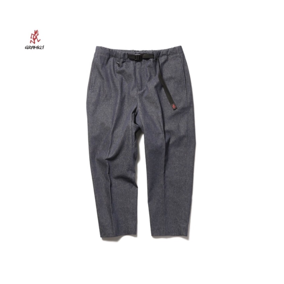 SOPH. | Gramicci WIDE CROPED TAPERED PANTS by LORO PIANA(S INDIGO):