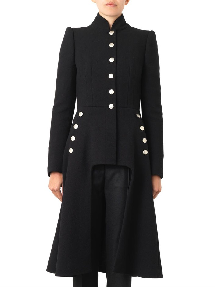 Cut-out front military jacket | Alexander McQueen | MATCHESFAS...