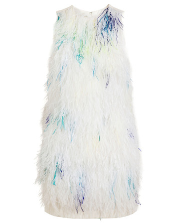Plume Feather Shift Dress